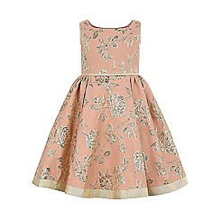 Monsoon - Girls' pink Valeria embroidered dress