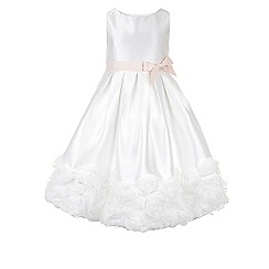 Monsoon - Girls' white Divine roses dress