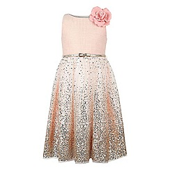 Monsoon - Girls' pink Amiya sequin sparkle dress