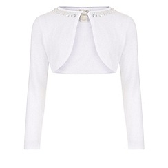 Monsoon - White Siera jewel long sleeve cardigan