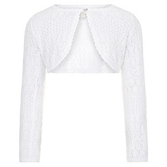 Monsoon - White Pollianna pointelle cardigan