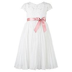 Monsoon - White Amerie pleat dress