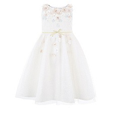 Monsoon - Girls' white Cherry blossom dress