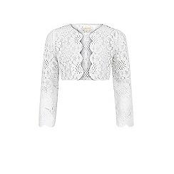 Monsoon - Girls' white Mira lace jacket