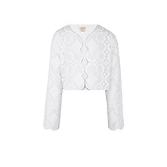 Monsoon - Girls' white Missouri lace jacket