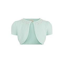 Monsoon - Girls' green jewels sparkle cardigan