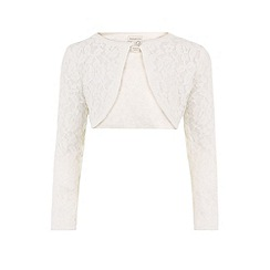 Monsoon - Girls' white honeysuckle cardigan