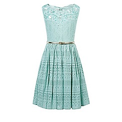 Monsoon - Girls' green Isla embellished dress