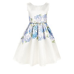 Monsoon - Girls' blue heidi hydrangea dress