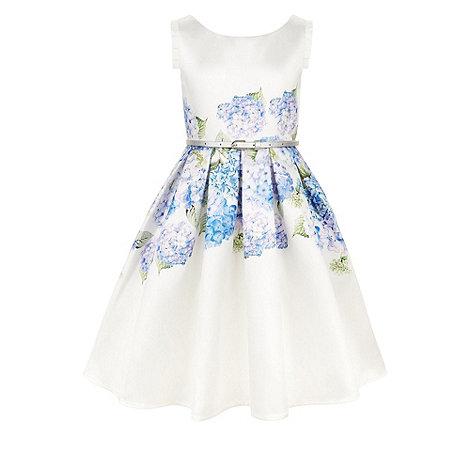 Monsoon - Girls+ blue heidi hydrangea dress