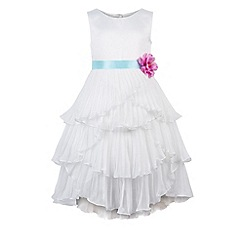 Monsoon - Girls' white marilyna ruffle dress