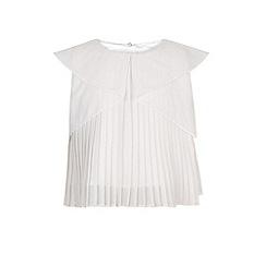 Monsoon - Girls' white heidi pleated top