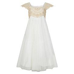 Monsoon - Girls' gold estella sparkle dress