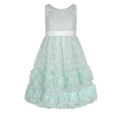 Monsoon - Girls' green lyra cascade lace dress