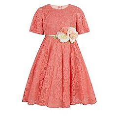 Monsoon - Girls' pink gardenia lace dress