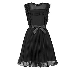 Monsoon - Girls' black Fairen ruffle dress