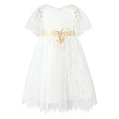 Monsoon - Girls' white Felicia flutter lace dress