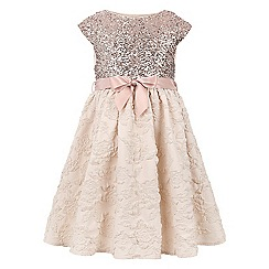 Monsoon - Girls' gold Kari sequin dress