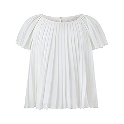 Monsoon - Girls' white Eden pleated top