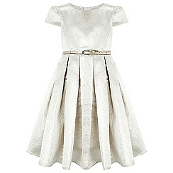 Monsoon - Girls' silver Gabrielle Jacquard Dress