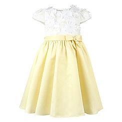 Monsoon - Girls' yellow Valentina flower dress