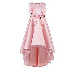 Monsoon - Girls' pink Ofressia flower high-low dress