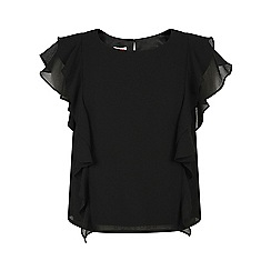 Monsoon - Girls' black Jakarta ruffle top