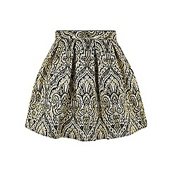 Monsoon - Girls' black Jakarta jacquard skirt