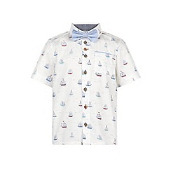 Monsoon - Boys' white stanley sailboat print shirt
