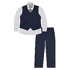 Monsoon - Boys' blue Rhys 4 piece suit set