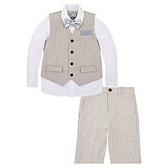 Monsoon - Lee Linen Mix 4 Piece Suit with Shorts
