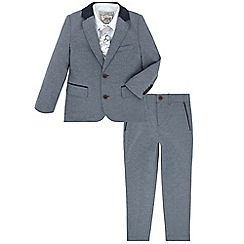 Monsoon - Boys' blue bailey 4 piece suit set