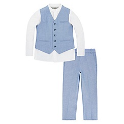 Monsoon - Boys' blue hardy suit set