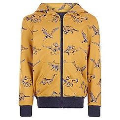 Monsoon - Yellow Damian dinosaur hoodie