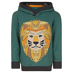 Monsoon - Green Lathan lion hoodie