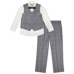 Monsoon - Boys' grey charles 4 piece suit set