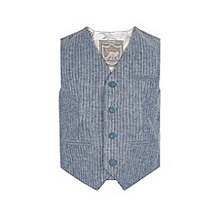 Monsoon - Boys' blue seth stripe waistcoat