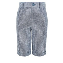 Monsoon - Boys' blue seth stripe shorts