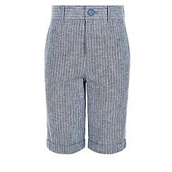 Monsoon - Boys' blue seth stripe shorts