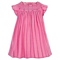 Monsoon - Pink Baby Amy crochet dress