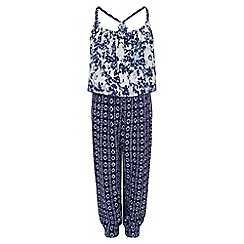 Monsoon - Blue Nellie printed jumpsuit