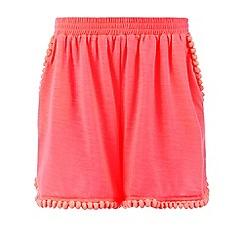 Monsoon - Girls' pink Tahiti pom pom beach shorts