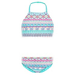 Monsoon - Girls' blue anika reversible bikini