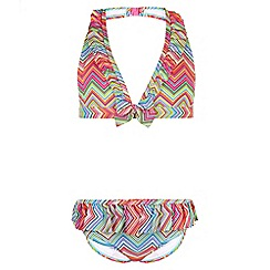 Monsoon - Multicoloured 'Izzy' chevron bikini