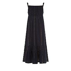 Monsoon - Girls' blue sparkle maxi dress