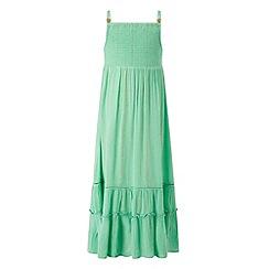 Monsoon - Girls' green sparkle maxi dress