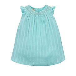 Monsoon - Baby girls' blue amy dress