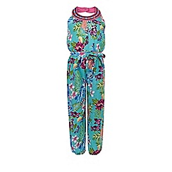 Monsoon - Girls' green paradiso print jumpsuit