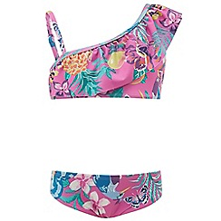 Monsoon - Girls' Pink Paradiso one shoulder bikini