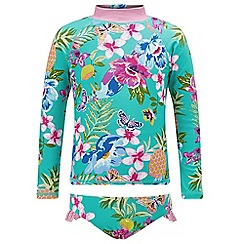 Monsoon - Girls' Green Paradiso sunsafe surfsuit